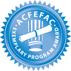 American Culinary Federation Exemplary Status logo, links to ACF's exemplary website