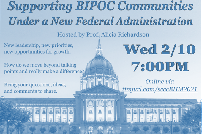 BIPOC College Community Conversation poster
