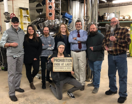 Craft Spirit Distillation Fall 2019 class