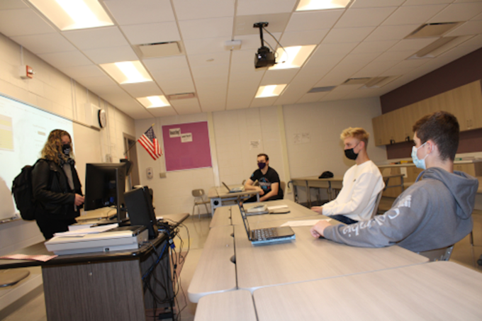 Students in Duanesburg High School English class.