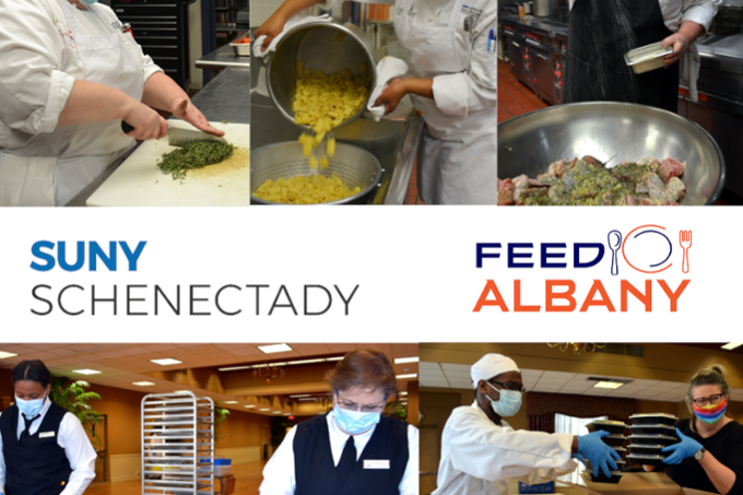 Feed Albany montage - photos of student chefs and faculty